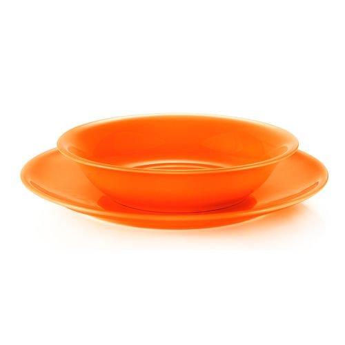 Lot de 6 assiettes creuses Abricot