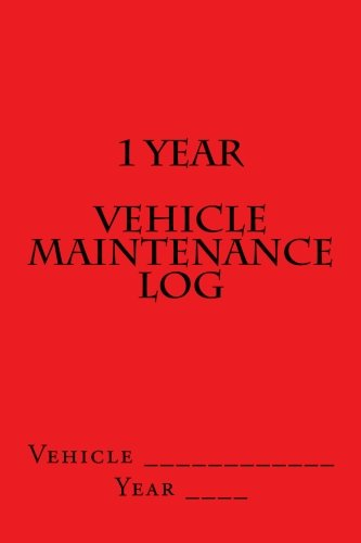 1-year-vehicle-maintenance-log-red-cover