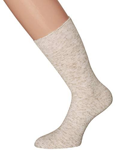 kbsocken 10 Paar Diabetikersocken Herrensocken und Damensocken ohne Gummi in verschiedenen Ausführungen und Farben Damen Herren Socken Strümpfe Gesundheitssocken (39-42, 10 Paar Damen Beige Leinen) -