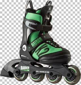 K2 Kinder Inline Skates Raider Pro - Schwarz-Grün - S (29-34 EU; 10-1 UK; 11-2 US) - 30A0218.1.1.S