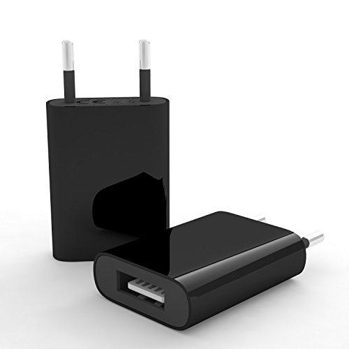 esorio® Netzstecker für alle USB kompatiblen technischen Endgeräten in schwarz