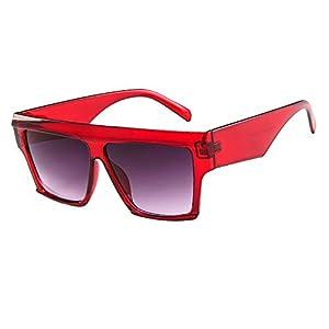 Battnot Sonnenbrille für Damen Herren, Oversized Übergroße Rahmen Unisex Vintage Mode Anti-UV Gläser Sonnenbrillen…