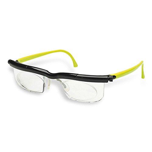 HC Handel 936186 Adlens-Brille mit individuell einstellbaren Gläsern von -6 bis +3 Dioptrien -...
