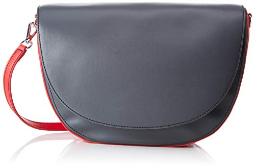 Armani Exchange Damen Big Tote Schultertasche, Grau (Dark Grey/Mouline Ro), 20x10x29 cm
