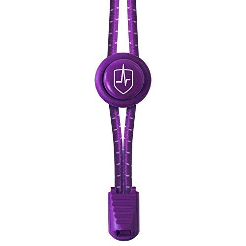Sprint 2 Schuhe (High Pulse Schnellschnürsystem (1 Paar) – Der elastische Schnürsenkel mit Schnellverschluss für einen perfekten Sitz und sicheren Halt (Violett))
