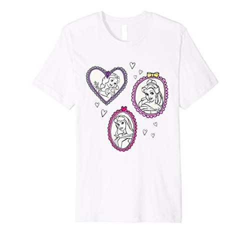Disney Princess Snow White Aurora and Belle Frames T-Shirt - Aurora Frames