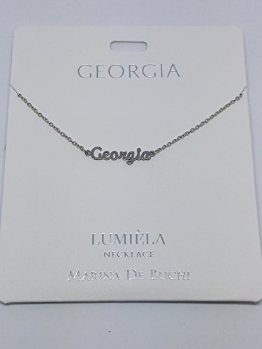 Georgien benannt lumeila Halskette Marina de Buchi Silber Farbe von Sterling effectz (Georgien Namen)