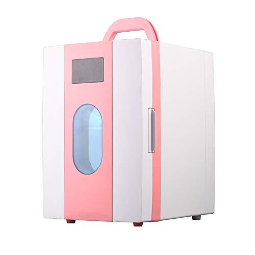 Dessus de Table Mini congélateur et glacière électrique portative, 10L de Voiture Réfrigérateur Mini Camping coolbox Boissons Refroidisseur Double Usage AC + DC alimenté Cooler Heater Cooler