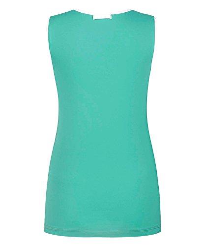 Vevie Pemberton technische performance Sport Top Stil ärmellos T-Shirt für Laufen Fitness Workout Tennis und Pilates Jade