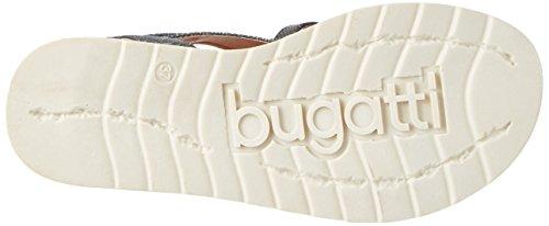 Bugatti J93856r, Sandales Compensées Femme Argent (Altsilber 801)