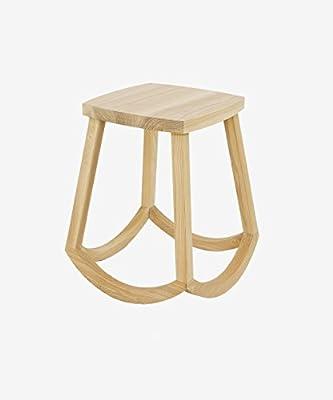 WUFENG Portable Nature Esche Holz Hocker mit mit gebogenen Hocker Beine, 3 Farben zur Verfügung, 31 * 38 * 44cm von WUFENG - Gartenmöbel von Du und Dein Garten