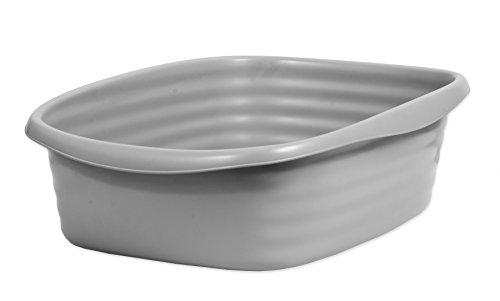 Petmate Stayfresh Katzentoilette, groß, Grau/Silber Antimikrobiellen Oberfläche