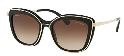 CHANEL Sonnenbrille CH4238 c622/S5 Black Schwarz Light Gold