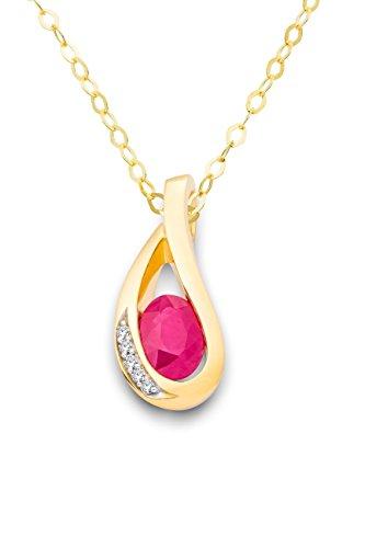 Miore Damen-Halskette 18 Karat (750) Gelbgold