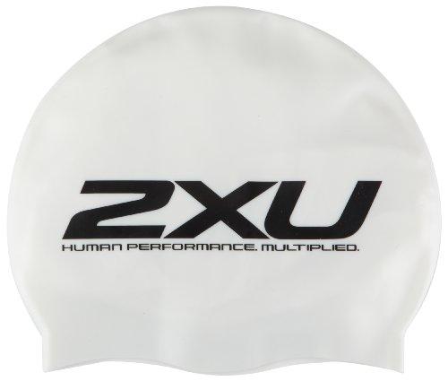 2XU Silicone Swim Cap in White US1355