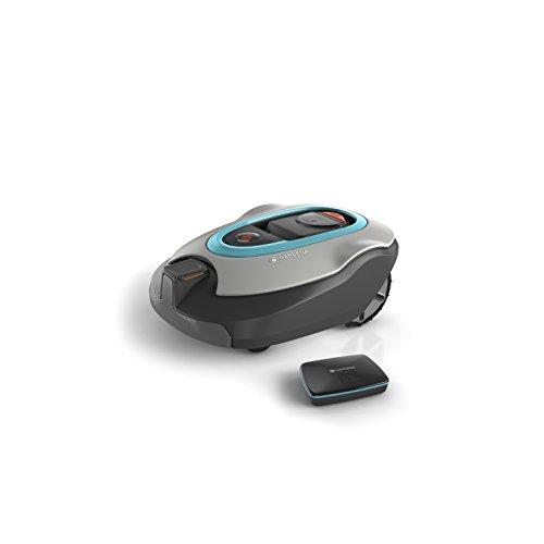 GARDENA 19061-60 smart SILENO+ Mähroboter, vernetzter Rasenroboter per Gardena App programmierbar, für Rasenflächen bis 1300m², Steigungen bis 35%, SensorControl Funktion passt automatisch die Mähfrequenz an das Graswachstum an, mit 60 dB(A) sehr leise