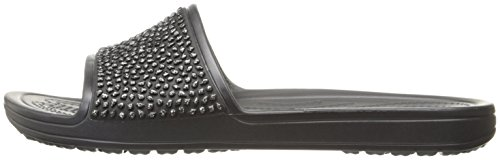 Crocs Damen Badeschuhe Sloane Embellished Slide schwarz (200)