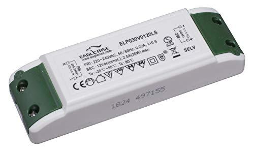 HuaTec Eaglerise LED Trafo 12V Konstantspannung 3W 6W 9W 15W 20W 30W 60W 100W Gleichspannung LED Netzteil Treiber Driver Transformator für Lampen Leuchtemittel (12V 30W) -
