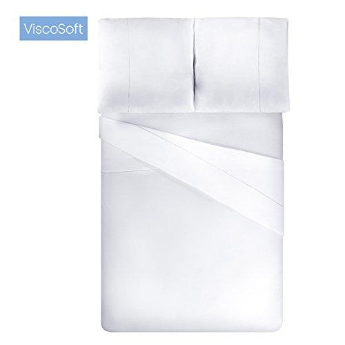 ViscoSoft - Housse de Couette en Microfibre avec Finition Venise + taies d'oreiller