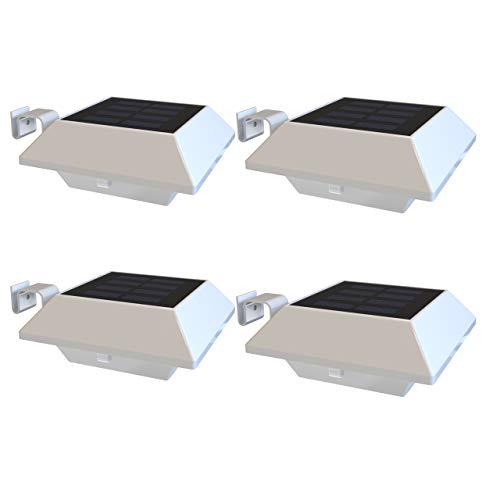 Solarleuchten für Garten Warmweiß Licht Zaun Solar Dachrinnenleuchten IP65 Wasserdichte Solarbetriebene LED Aussenlampe Solarlampen Wand Flur Treppen Hof Einfahrt Gehwegen