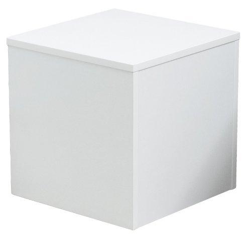 Office-podest (Ladeneinrichtung Warenträger Sockel Podest weiß (L: 40cm, H: 40cm, T: 40cm))