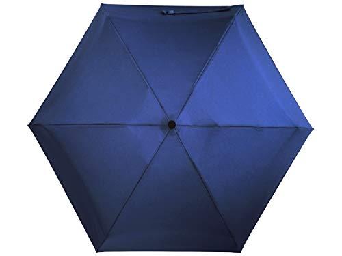 crackajack Regenschirm Damen Mini taschenschirm sturmsicher umgekehrt knirps Damen Reverse verkehrt herum leicht klein Regenschirm (A - Basic Blue)