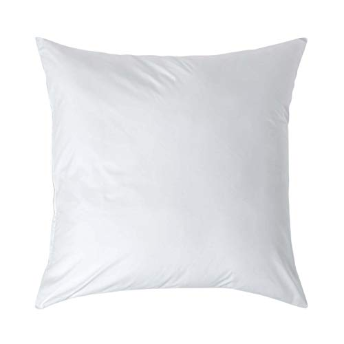 Homescapes Taie d'oreiller de 80 x 80 cm de Couleur Blanc 100% Coton Egyptien avec Fermeture Eclair
