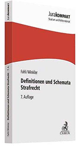 Definitionen und Schemata Strafrecht (Jura kompakt)
