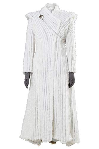 Manfu Game of Thrones Daenerys Targaryen Winter Outfit GOT Season 7 E6 Dragonstone Snow Kleid M