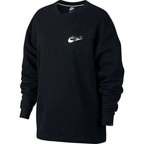Nike NSW Rally Metalic Sweatshirt Damen, Black, 2XL