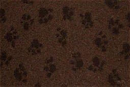 hundeinfo24.de Hundedecke, Thermodecke Braun, Schwarze Pfötchen, waschbar, antirutsch, 75x50cm, 30mm