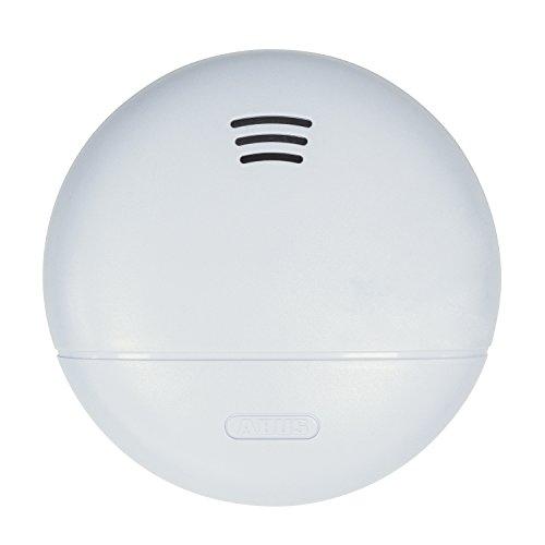 ABUS Rauchmelder RWM140 geeignet für Schlafzimmer, Flur, Kinderzimmer und Wohnmobile • 10 Jahre Batterielebensdauer • weiß • 77181