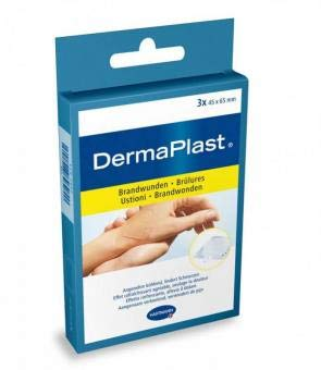DermaPlast Hydro Brandwundenpflaster steril, 4,5 x 6,5 cm (3 Stck.)