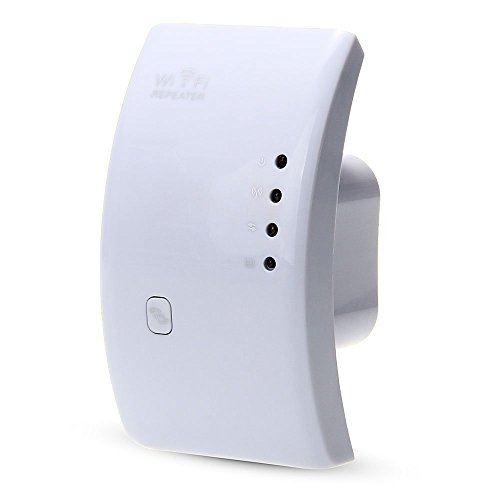 LAN inalambrico - TOOGOO(R) Amplificador de senal WIFI 300Mbps repetidor AP LAN inalambrico de extension de alcance
