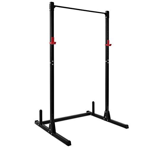 COSTWAY Squat Rack Power Rack Fitness-Rack Kraftstation Gewichtsscheiben-Ständer Langhanteltraining 115 x 126 x 210cm