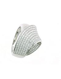 Vilma Righi Damen-Ring rhodiniert weisse Zirkonia 925 Sterling Silber 40281463024