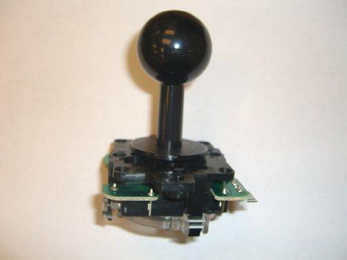 Unbekannt Sanwa JLF-TP-8YT-SK OEM Gray Ball Griff Arcade Joystick 4- und 8-Fach verstellbar (Mad Catz SF4 Tournament Joystick kompatibel) Gray Griff