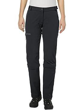 Vaude Wo Farley Stretch Capri T-Zip Ii Pantalón, Mujer, Negro / Black, 38-Long
