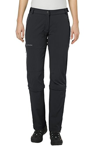 Vaude Damen Farley Stretch Capri T-Zip Ii Hose, schwarz (black), XS (Herstellergröße: 36) Black Stretch Capri Pants