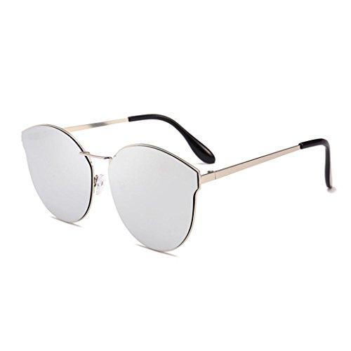 Luoluoluo occhiali da sole, occhiali da sole donna moderni fashion a specchio occhio di gatto lenti polarizzate uv400 (e)