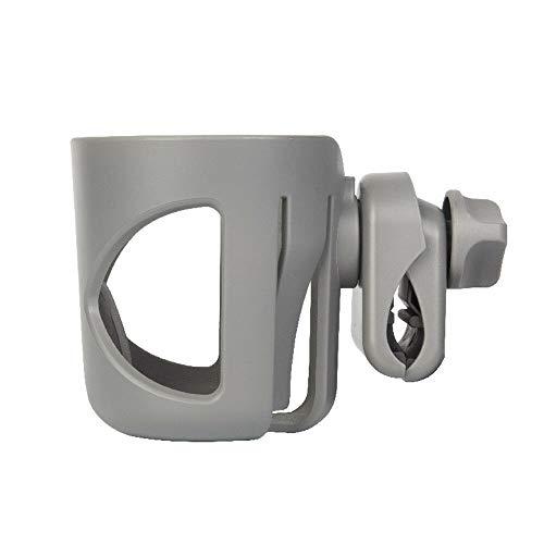 gen Becherhalter Universal Getränkehalter 360 Grad Drehbar Flaschenhalter Babyflaschen kaffeebecher halter für Buggy Rollstuhl oder Fahrrad (Grau) ()