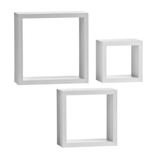 Premier Housewares 2402798 Lounge Cube Lot de 3 Étagères Murale en Blanc