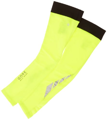 GORE BIKE WEAR VISIBILITY THERMO   MANGUITOS UNISEX  COLOR AMARILLO NEON  TALLA S