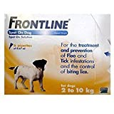 Frontline Spot On Dog for Small Dogs 2-10kg, 6 Pipettes