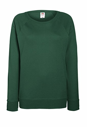 Fruit Of The Loom - Felpa leggera da donna con maniche raglan Bottle S