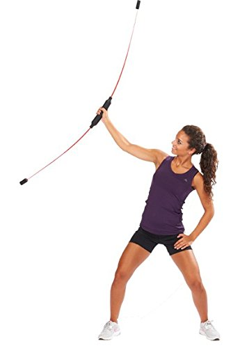 S.B.J - Sportland Body Stick Aerobic Bar Fitness Stick Schwungstab Swing Stab, Farbe rot