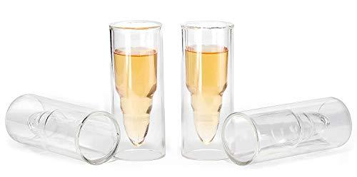 apsgläser, kugelförmig, 4 Stück Cocktail-Gläser, kann auch als Schnapsglas verwendet werden für: Bier, Wein, Kaffee, Saft oder andere Getränke ()