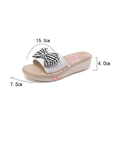 CHAOXIANG Pantofole Da Donna Antiscivolo Con tacco Ciabatte Piatte Sandali Da Surf Nuova Estate Ciabatte Spiaggia ( Colore : Blu , dimensioni : EU35/UK3/CN35 ) Nero