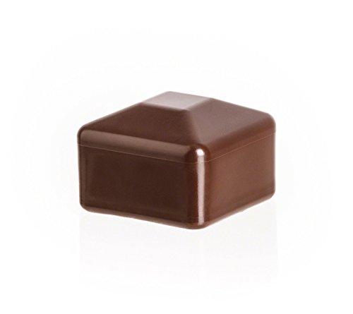 10 Stck. capuchon pour poteau carré 100x100 marron plastique Bouchons tube Bouchons
