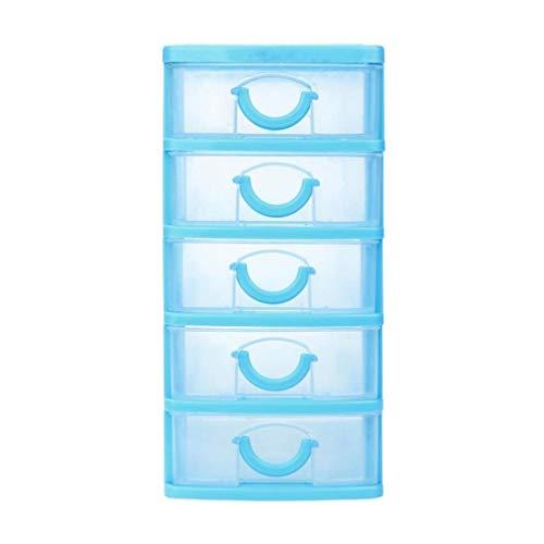 ¡Oferta de liquidación! Scpink Caja dealmacenamiento,objetos de plástico duraderos con cajones de escritorio varios objetos pequeños (XL, Cielo azul)